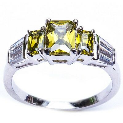top seller peridot and baguette russian cz
