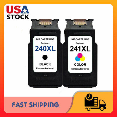 PG-240XL CL-241XL Black Color Ink Cartridge for Canon PIXMA MG2220 MX452 (Pg 240 Black Cartridge Cl 241 Color Cartridge)