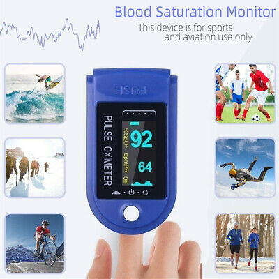 Oled Fingertip Pulse Oximeter Heart Rate Monitor Spo2 Blood Oxygen Saturation