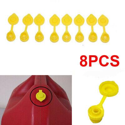 8pcs Yellow Fuel Gas Can Jug Plug Vent Caps Replacement Sears Craftsman Scepter