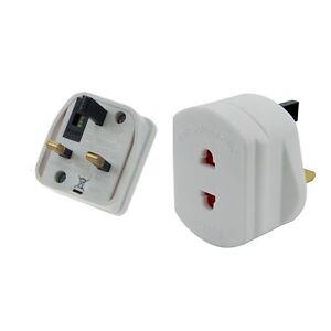 New Shaver Plug Adapter UK To 2 Pin Socket Plug Fuse Bathroom Shaving