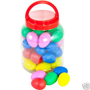 Percussion Workshop coloured egg shakers - tub of 40 in random colours