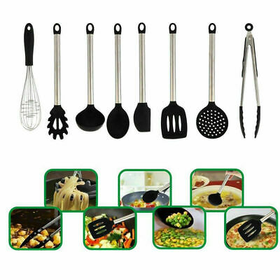 8×Kitchen Nonstick Utensils Set Best Cooking Tools Stainless Steel (Best New Cooking Tools)