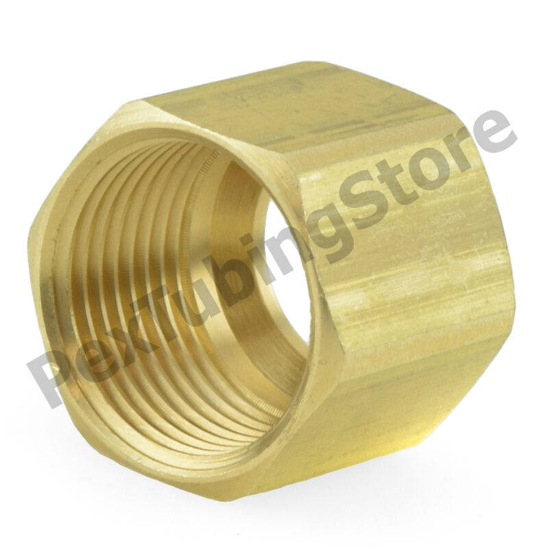 "(100) 1/4"" OD Tube Brass Compression Nut Fittings"