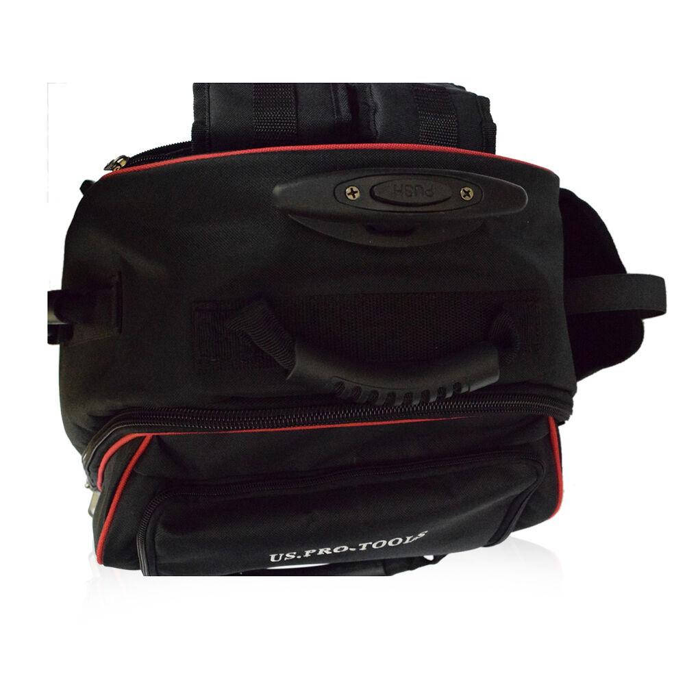 354 Us Pro Tools Tool Bag Padded Heavy Duty Wheeled