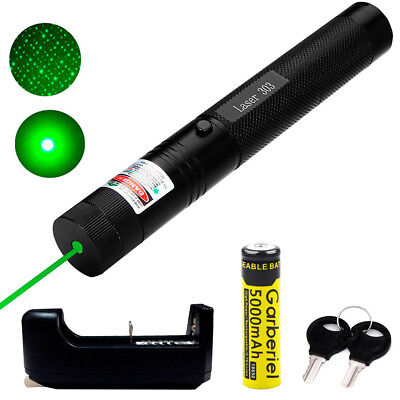 100miles 5mw 532nm 303 Green Laser Pointer Pen Visible Beam Light 18650charger