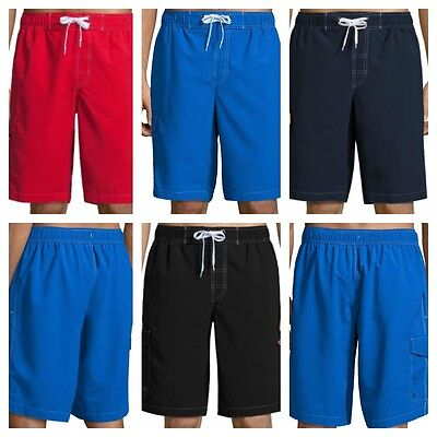 St. John's Bay Men's Swim Trunks S M L XL or 2XL, Sits Below the Knee, New - Trick Or Trunk