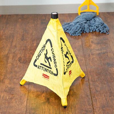 Wet Floor Sign Pop Up Cone Yellow Rubbermaid Fg9s0000yel