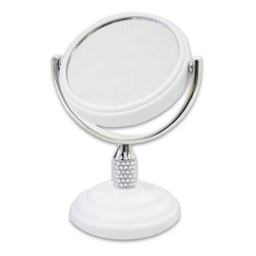 Galvin Mini 3″ Dual Sided Vanity Mirror 5X Magnification White Home & Garden