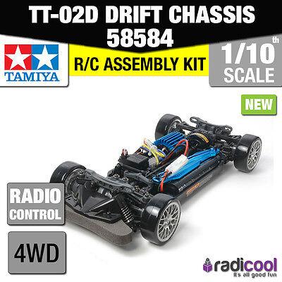 NEW! 58584 TAMIYA TT-02D 4WD DRIFT SPEC CHASSIS 1/10th RADIO CONTROL CAR KIT