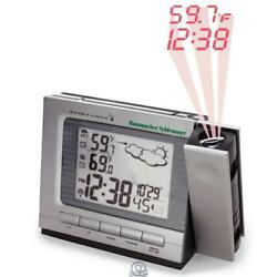 The Projection Alarm Clock Weather Monitor Large LCD Screen Atomic Time