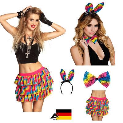 Damen Kostüm heißes Häschen Hase Fasching Regenbogen Rock Sexy Bunny Erotik -