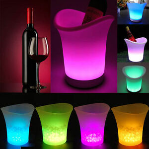 LED ICE BUCKET Colour Changing Champagne Wine Drink Cooler Home Retro Party Xmas