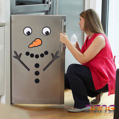 Home Decoration - Xmas Christmas Novelty Snowman Fridge Sticker Decal Decoration Fun Home UK