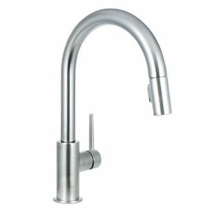 DELTA FAUCET Delta 9159-AR-DST Single Handle Pull-Down Kitchen Faucet,  Arctic Stainless