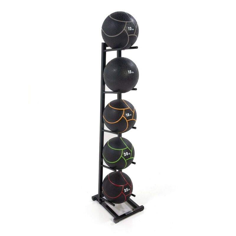 Power Systems PS-27150 Medicine Ball Tree Rack for 5 Standard Size Balls, Black