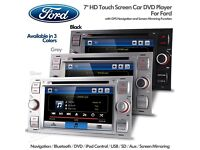 """7"""" HD Car Stereo CD USB AUX DVD Player + Bluetooth Navigation USB SD & Screen Mirroring For Ford"""