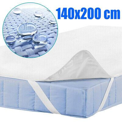 Matratzenauflage Matratzenschoner 140x200 cm Wasserdicht Matratzenschutz Weiß DE