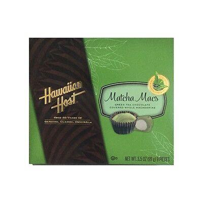 """Hawaiian Host """"Matcha Macs"""" green tea chocolate covered macadamia nuts NEW!"""