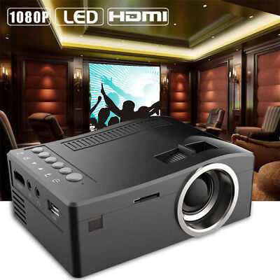 LCD Android 1080P HD LED Projector Home Theater 2000Lumen Cinema HDMI US