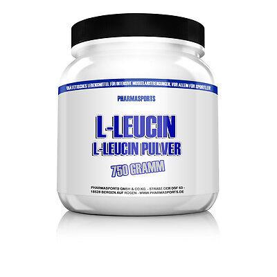 Pharmasports 750g Dose L-LEUCIN 100% REIN Pulver ( Anabol, Muskelaufbau,)