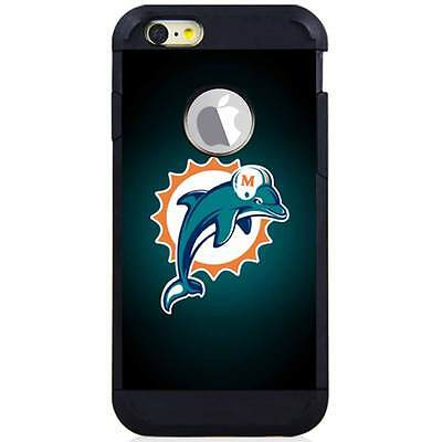 Dolphin Cover - Iphone 6S/6S Plus/7/7 Plus Armor Case Cover Miami Dolphins Black