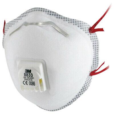 5 x 3M 8833 FFP3 R D Wiederverwendbar m.Ventil Atemschutzmaske Mundschutz Maske