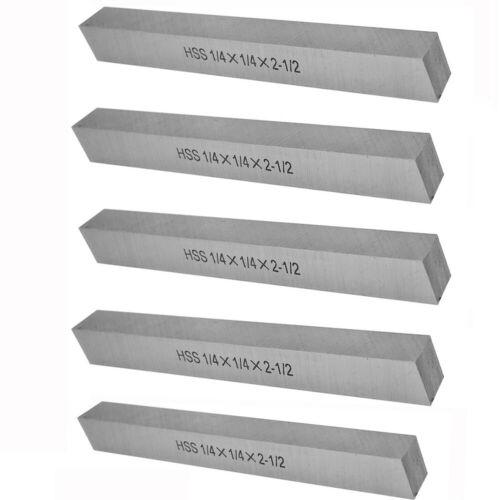 "1/4"" x 1/4"" x 2-1/2"" HSS Square Tool Bit Lathe Fly Cutter (Pack 5)"