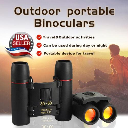 Binoculars 30x60 Zoom Outdoor Travel Compact Folding Small Telescope Hunting USA