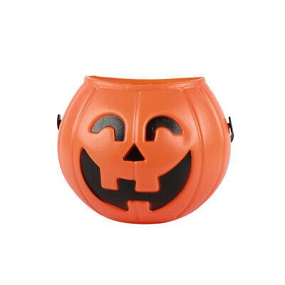 2x Halloween Kürbis Eimer Kinder Süßes oder Saures Candy Eimer Halter Party Prop