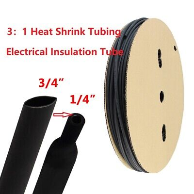 34 Polyolefin 31 Heat Shrink Tubing Electrical Insulation Tube Dual Wall 10ft
