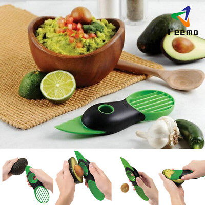 Obst 3 in 1 Avocado Cutter Tool Slicer Scoops Slices Schneider Löffel Neu