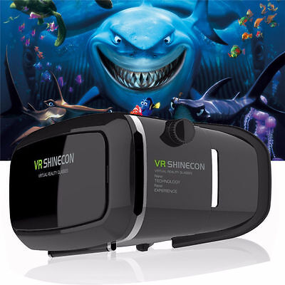 Google Cardboard Vr Box Virtual Reality Shinecon 3D Glasses For Iphone 7 Plus 6S