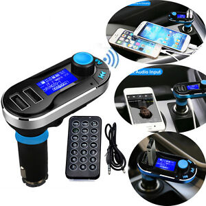 Bluetooth Car Kit MP3 Player FM Transmitter SD USB Charger For iPhone Samsung S6