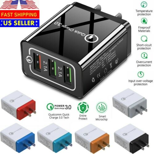 USB Quick Fast Charger Hub Wall Charger Power Adapter For iPhone Android Samsung Cell Phone Accessories