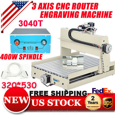 3axis Cnc Router 3040 Engraver Wood Milling Machine Carving Drilling Desktop