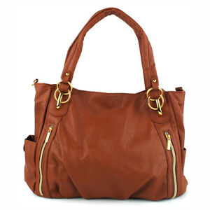 Women Front Zip Pattern with Two Outside Pockets Hobo ...