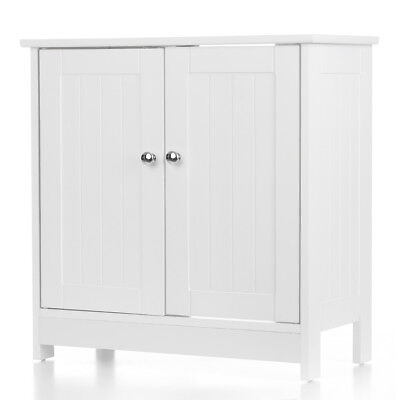 iKayaa Modern Under Sink Storage Cabinet with Doors Bathroom Vanity X8Y6