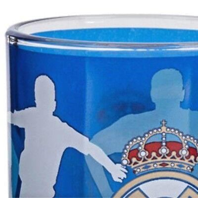 Real Madrid Tasse Becher aus Glas blau Taza de Vidrio Primera Division Fußball  ()