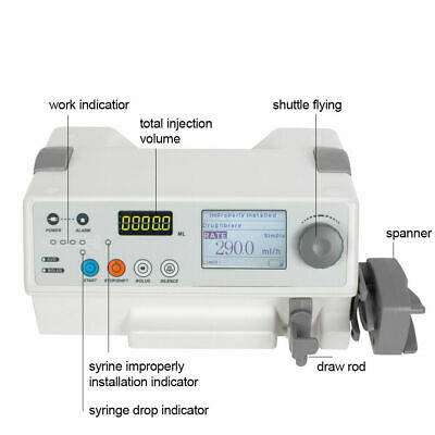 Automatically Infusion Pump Iv Fluid Syringe Pump Drug Library Alarmaudible