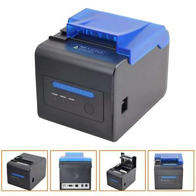 80mm Thermal Receipt Kitchen Printer Usb Rs232 Escpos Order Reminder Waterproof