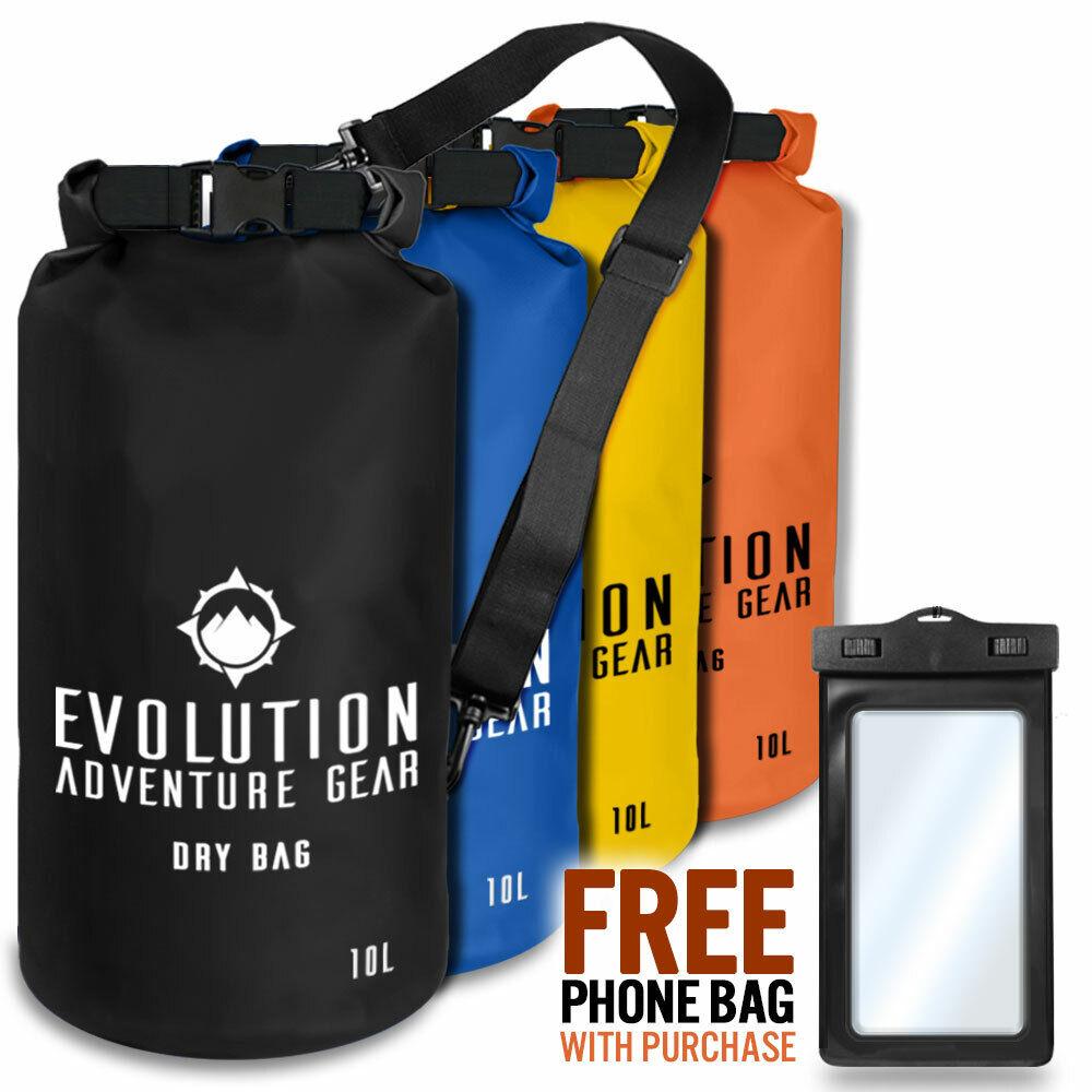 Waterproof Dry Bag Roll Top Gear Bag Kayaking, Fishing, Camping - Evolution
