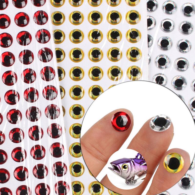 100pcs//set Fish Eye 3-12mm 3D Holographic Lure Fish Eyes Fly Tying Jigs Crafts
