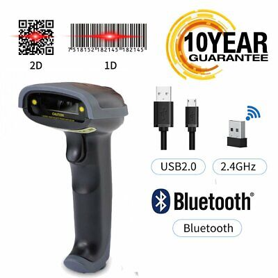 Usb Bluetooth Wireless Barcode Scanner Automatic Laser Scanner Gun Pos Reader