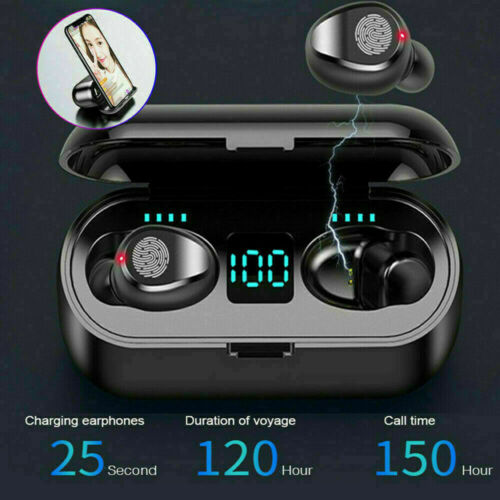 Wireless Earbuds for iPhone Samsung Android Bluetooth Earphones Waterproof F9