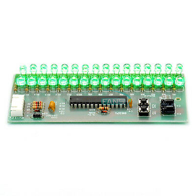 Adjustable Display Pattern Vu Meter Level Indicator 16 Led Dual Channel Green