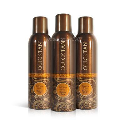 3 Bottles Body Drench Quicktan Quick Tan Bronzing Spray Medi