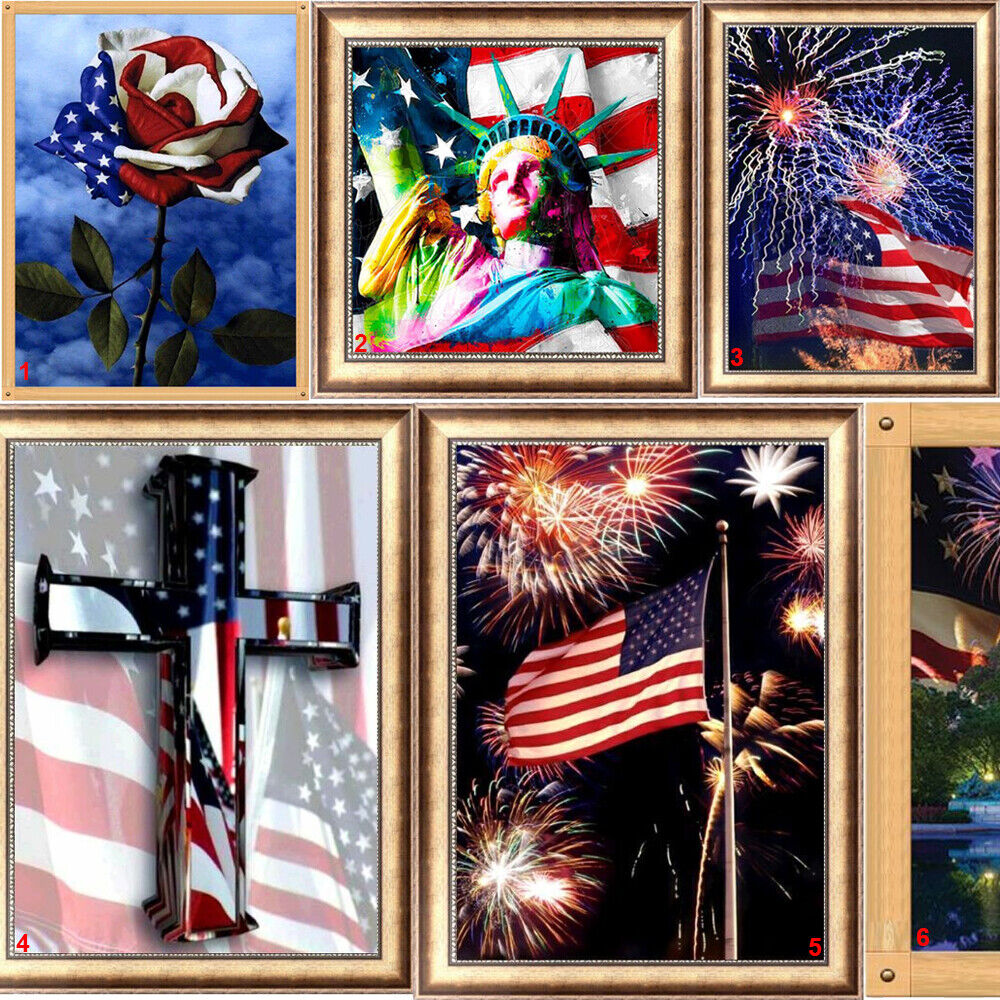 american us flag diy 5d diamond painting