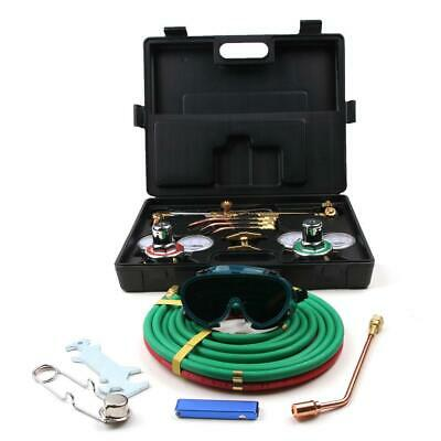 Gas Welding Cutting Kit Oxy Acetylene Oxygen Torch Brazing Fits Plastic Box