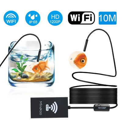 10m Wifi Endoscope Rigid Borescope Inspection Camera Tube For Iphone Ios Android